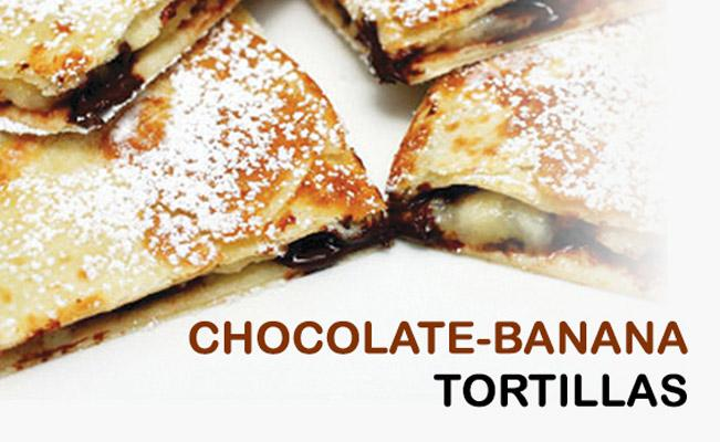 Chocolate-banana Tortillas