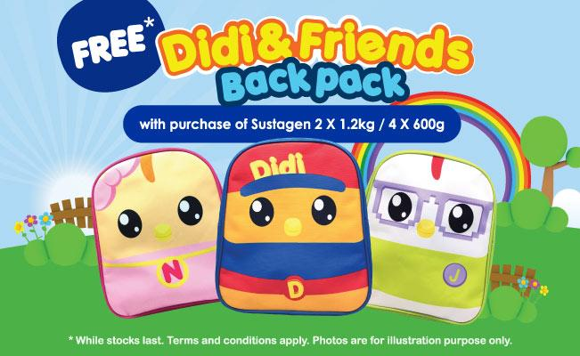 Free Didi & Friends Backpack