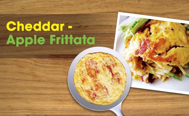 Cheddar - Apple Frittata